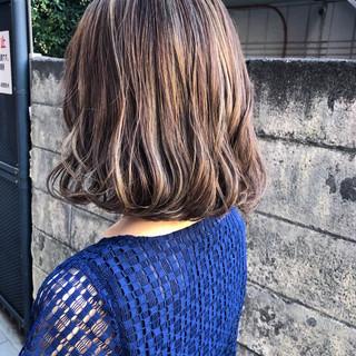 エフォートレス デート 切りっぱなし フェミニン ヘアスタイルや髪型の写真・画像