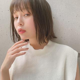 デジタルパーマ ミディアム ヘアアレンジ 鎖骨ミディアム ヘアスタイルや髪型の写真・画像