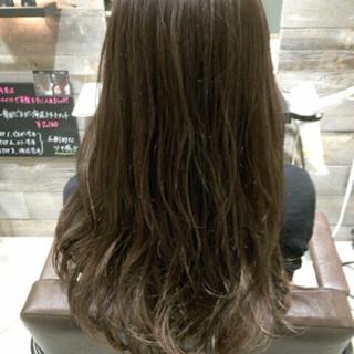 アッシュ ハイライト ブラウン 大人かわいい ヘアスタイルや髪型の写真・画像
