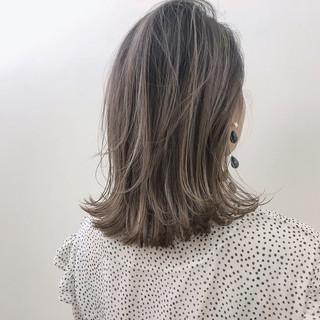 ハイライト デート ゆるふわ ミディアム ヘアスタイルや髪型の写真・画像