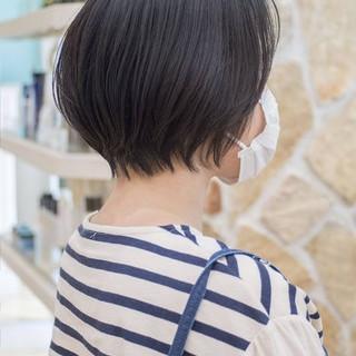 ショート ショートヘア ナチュラル ショートカット ヘアスタイルや髪型の写真・画像