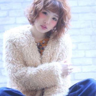 小顔 フリンジバング ガーリー かわいい ヘアスタイルや髪型の写真・画像