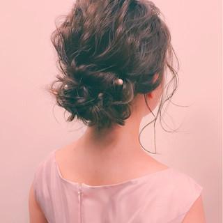 外国人風 ヘアアレンジ ミディアム 大人女子 ヘアスタイルや髪型の写真・画像