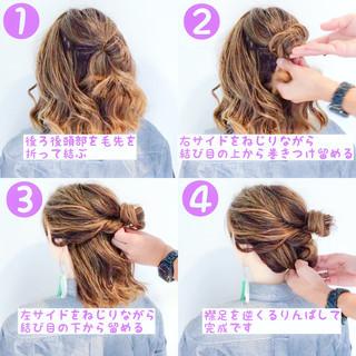 色気 フェミニン 夏 ヘアアレンジ ヘアスタイルや髪型の写真・画像