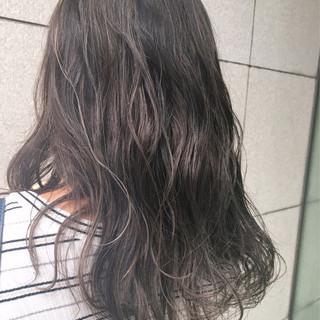 外国人風 セミロング 外国人風カラー グレージュ ヘアスタイルや髪型の写真・画像