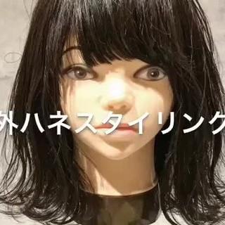 ヘアアレンジ ガーリー 外ハネ デート ヘアスタイルや髪型の写真・画像