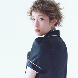 ハイライト ウルフカット ショート 外国人風 ヘアスタイルや髪型の写真・画像