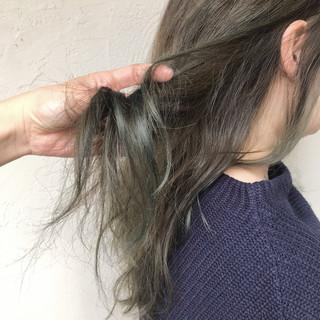 ストリート オレンジベージュ オリーブカラー オリーブアッシュ ヘアスタイルや髪型の写真・画像