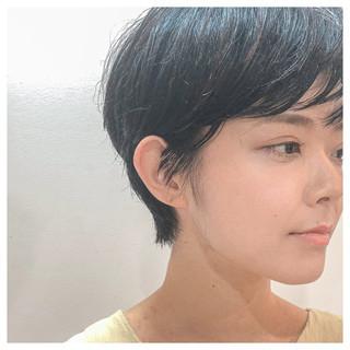 ハンサムショート ショート マッシュショート ナチュラル ヘアスタイルや髪型の写真・画像