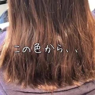 ハイライト ロング ナチュラル コントラストハイライト ヘアスタイルや髪型の写真・画像