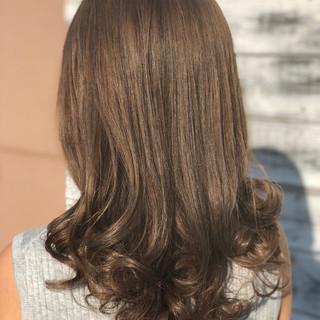 バレイヤージュ 上品 エレガント セミロング ヘアスタイルや髪型の写真・画像
