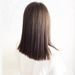 ミディアム 髪質改善 ラベンダーアッシュ グレージュ ヘアスタイルや髪型の写真・画像