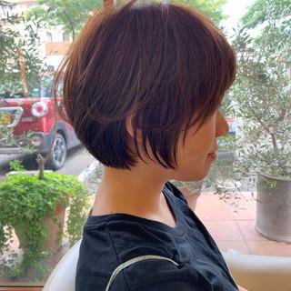 ヘアアレンジ ふんわり 大人可愛い ショートヘア ヘアスタイルや髪型の写真・画像