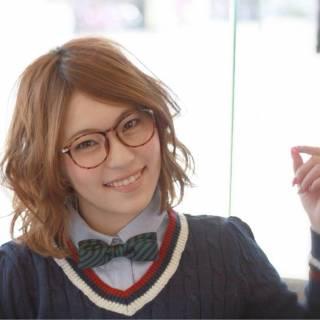 学校 ガーリー モテ髪 ボブ ヘアスタイルや髪型の写真・画像