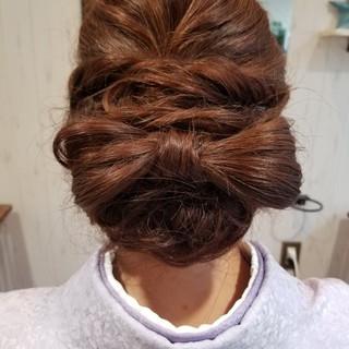 ヘアアレンジ ガーリー 和装 上品 ヘアスタイルや髪型の写真・画像 ヘアスタイルや髪型の写真・画像