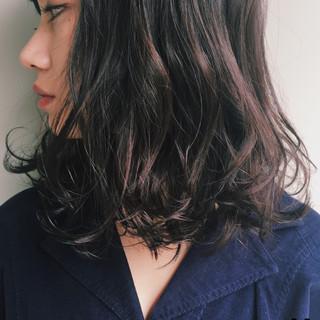ゆるふわ 暗髪 簡単 パーマ ヘアスタイルや髪型の写真・画像 ヘアスタイルや髪型の写真・画像