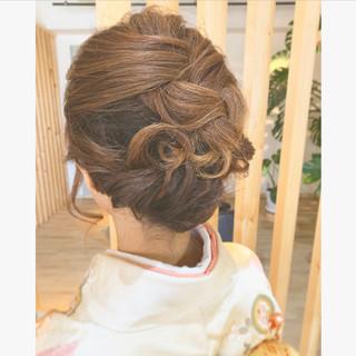 和装髪型 エレガント ヘアアレンジ 和装ヘア ヘアスタイルや髪型の写真・画像