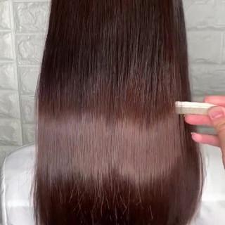 髪質改善 ロング エレガント 縮毛矯正 ヘアスタイルや髪型の写真・画像