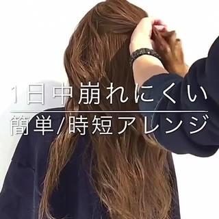 ショート フェミニン 簡単ヘアアレンジ ロング ヘアスタイルや髪型の写真・画像