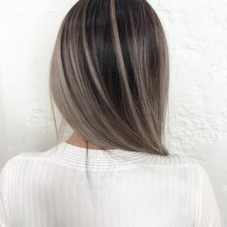 ハイライト ブリーチ 大人ハイライト ヘアカラー ヘアスタイルや髪型の写真・画像 ヘアスタイルや髪型の写真・画像
