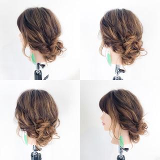 簡単ヘアアレンジ フェミニン デート 結婚式 ヘアスタイルや髪型の写真・画像