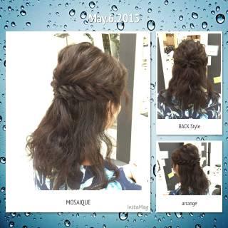 モテ髪 ミディアム 波ウェーブ コンサバ ヘアスタイルや髪型の写真・画像