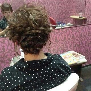 エレガント セミロング ヘアアレンジ 結婚式 ヘアスタイルや髪型の写真・画像