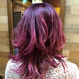 ミディアム ゆるふわ ヘアアレンジ ウェーブ ヘアスタイルや髪型の写真・画像 ヘアスタイルや髪型の写真・画像