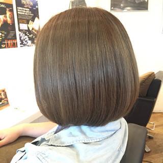 ハイライト ボブ アッシュ 外国人風 ヘアスタイルや髪型の写真・画像