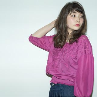 抜け感 女子会 セミロング リラックス ヘアスタイルや髪型の写真・画像