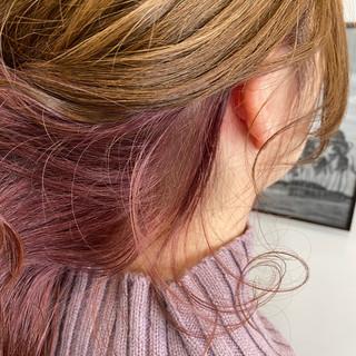 艶カラー ボルドー セミロング 艶髪 ヘアスタイルや髪型の写真・画像