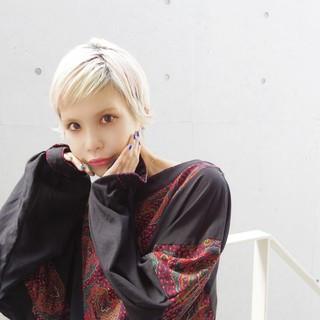 外国人風 ガーリー ショート ショートヘア ヘアスタイルや髪型の写真・画像