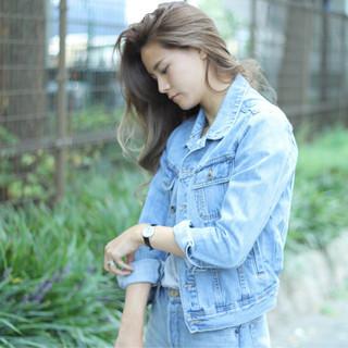 ストリート ハイライト 大人女子 グレージュ ヘアスタイルや髪型の写真・画像