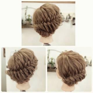 フィッシュボーン パーティ 編み込み ロング ヘアスタイルや髪型の写真・画像 ヘアスタイルや髪型の写真・画像