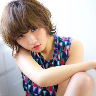 フェミニン ラフ ガーリー パーマ ヘアスタイルや髪型の写真・画像
