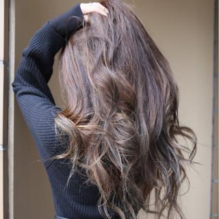 グラデーションカラー 外国人風 ハイライト アッシュ ヘアスタイルや髪型の写真・画像