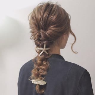 モード 大人かわいい ヘアアレンジ ナチュラル ヘアスタイルや髪型の写真・画像
