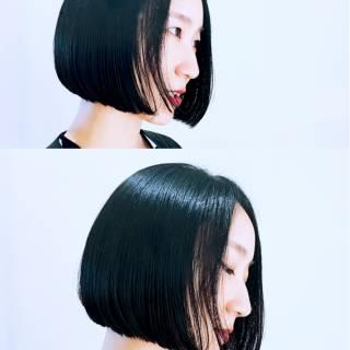 ボブ モード 外国人風 ナチュラル ヘアスタイルや髪型の写真・画像