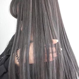 カール バレイヤージュ ハイライト 外国人風 ヘアスタイルや髪型の写真・画像