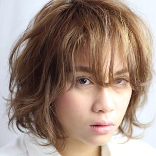 外国人風 ストリート うざバング ショート ヘアスタイルや髪型の写真・画像