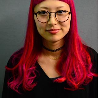 ロング オン眉 ストリート ハイトーン ヘアスタイルや髪型の写真・画像