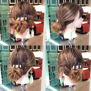 ヘアアレンジ ロング 梅雨 アウトドア ヘアスタイルや髪型の写真・画像