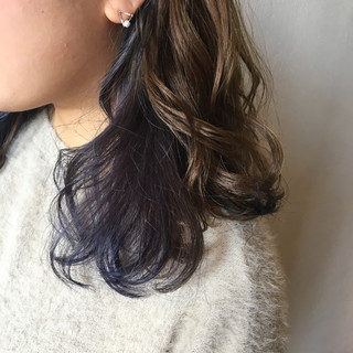 ガーリー 3Dカラー ミディアム 外国人風カラー ヘアスタイルや髪型の写真・画像