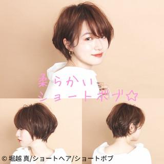 大人かわいい ショートボブ ショートヘア ふんわりショート ヘアスタイルや髪型の写真・画像