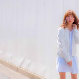外国人風 ストリート ミディアム 春 ヘアスタイルや髪型の写真・画像