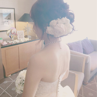 上品 結婚式 ヘアアレンジ ロング ヘアスタイルや髪型の写真・画像