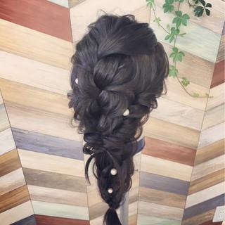 簡単ヘアアレンジ ヘアアレンジ ガーリー ロング ヘアスタイルや髪型の写真・画像