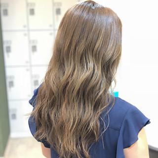 外国人風 透明感 ブリーチ ロング ヘアスタイルや髪型の写真・画像