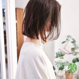 ハイライト ミニボブ インナーカラー ナチュラル ヘアスタイルや髪型の写真・画像