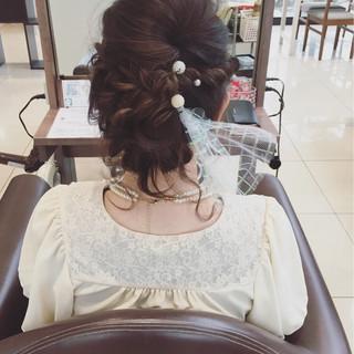 編み込み 結婚式 ボブ ヘアアレンジ ヘアスタイルや髪型の写真・画像 ヘアスタイルや髪型の写真・画像